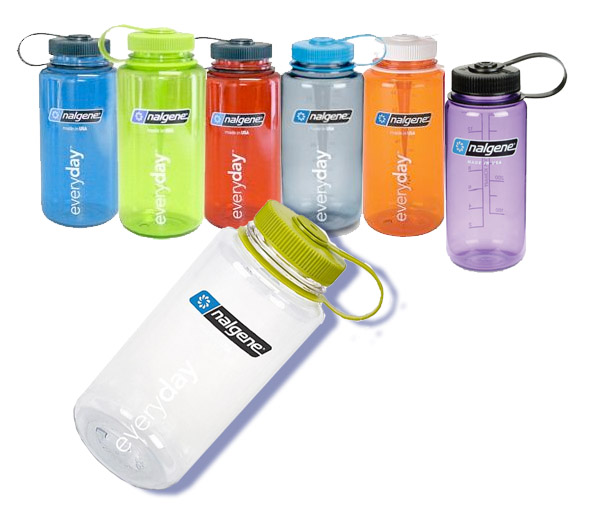 <i>Water Bottles</i> - Nalgene 32 oz Wide Mouth & mini Carabiner