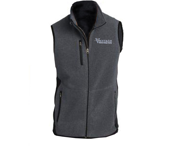 Vantage M's R-Tek Pro Fleece Full-Zip Vest by Port Authority