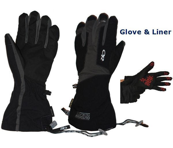 M's Arete Waterproof Glove & Liner Set