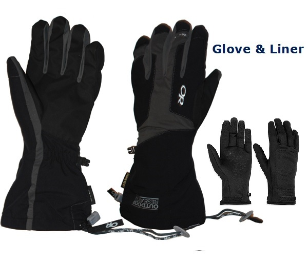 W's Arete Waterproof Glove & Liner Set