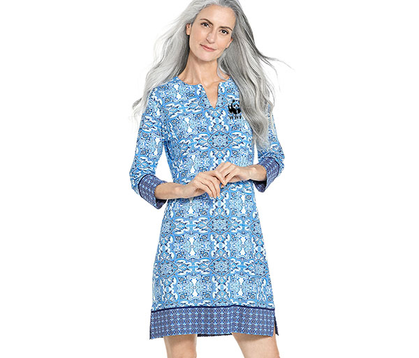 WWF W's Oceanside Tunic Dress by Coolibar