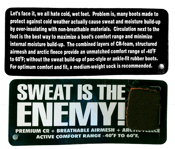 Sweat Is the Enemy