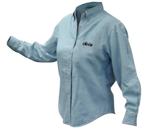 Olivia's W's Discovery Denim Shirt by Harriton
