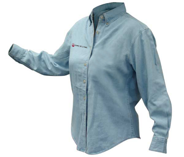GCT's Women's Discovery Denim Shirt by Harriton