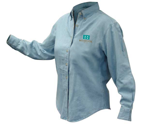 Holbrook Travel Women's Discovery Denim Shirt by Harriton