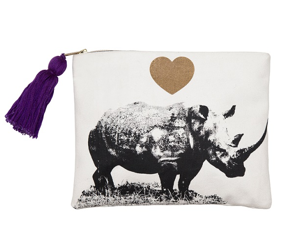 Rhino Pouch in Support of Rhinos Without Borders