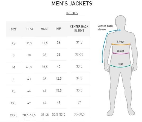 Men Jacket Size Chart