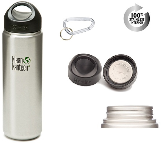 Klean Kanteen® 27 Widemouth Stainless with Mini CarabinerKlean
