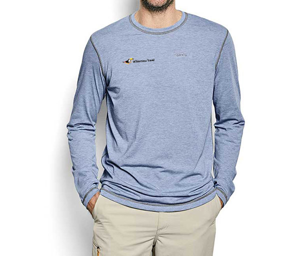 Wilderness Travel's M's DriRelease L/S T-Shirt by Orvis