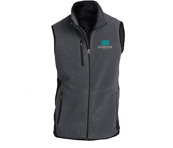Holbrook Travel Men's R-Tek Fleece Full-Zip Vest by Port Authori