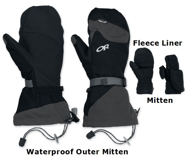 Waterproof Mitten & Liner Set