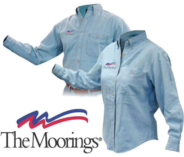 Moorings M's Discovery Denim Shirt