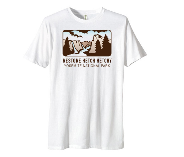 Retro Hetch Hetchy Organic T- Men
