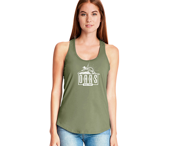 OARS' W's Gathered Racerback Tank