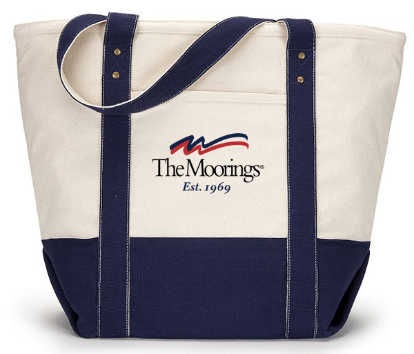 Moorings Zippered Cotton Canvas Beach Tote
