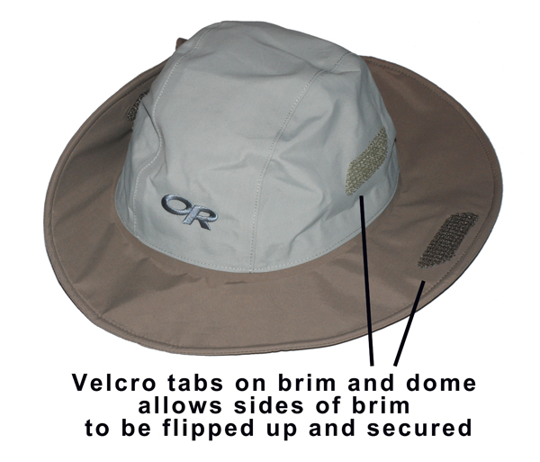 velcro tabs to flip up sides