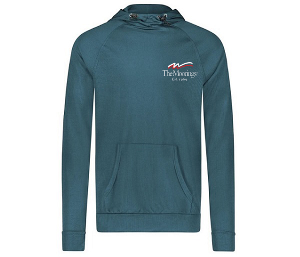 Moorings Blue Cove Thermal Hoodie