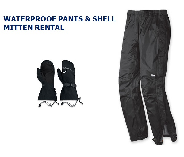 USH Waterproof Pants & Hand Rental
