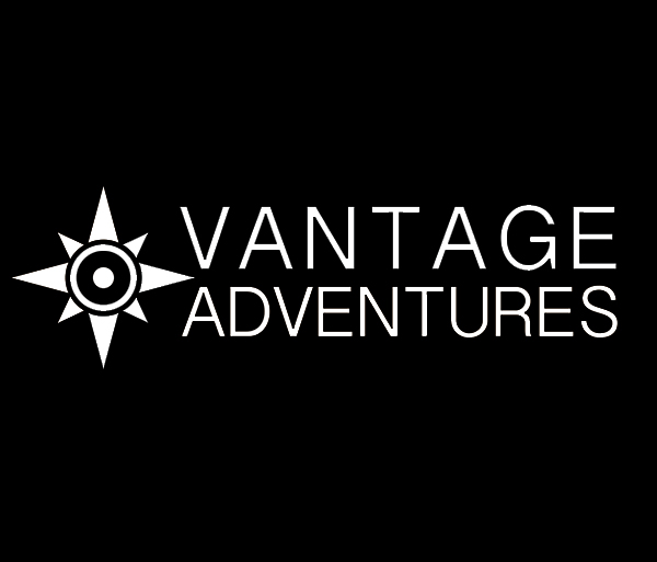Vantage Adventures White Logo