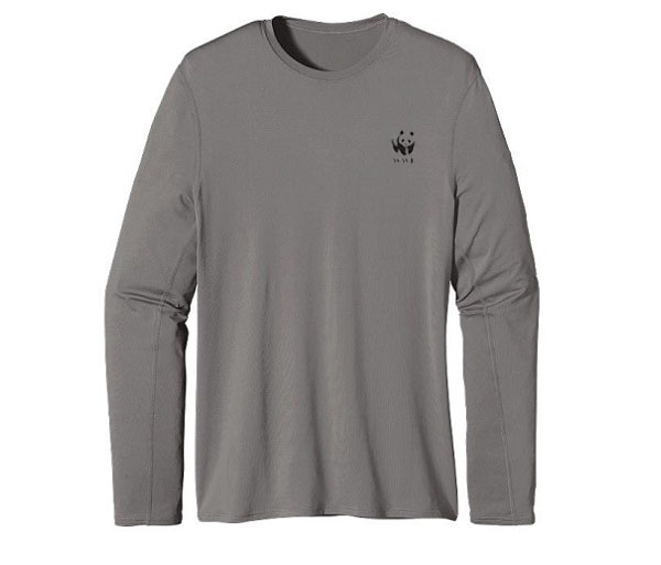 WWF M's UPF Capilene L/S Performance T by Patagonia