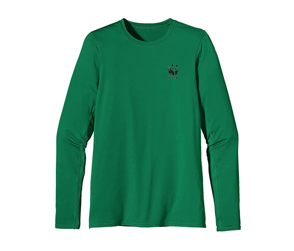 WWF W's UPF Capilene L/S Performance T by Patagonia