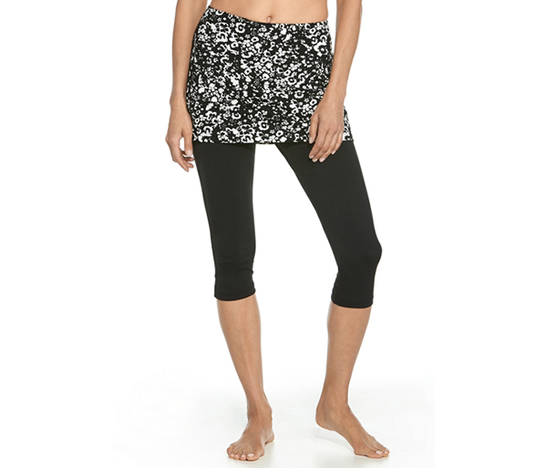 W's UPF 50+ Skirted Swim Capris