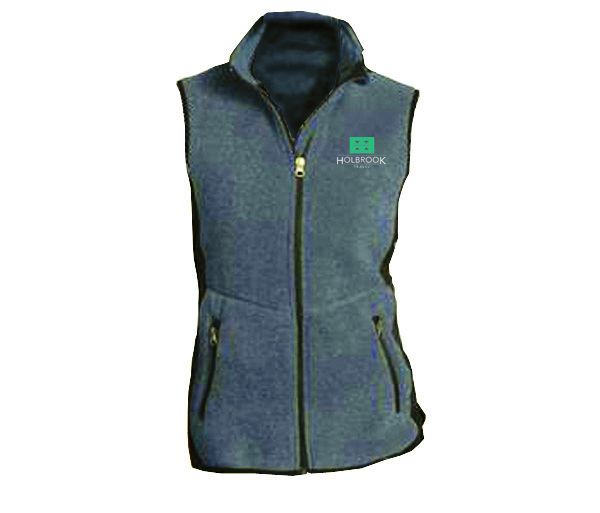 Holbrook Travel Women's R-Tek Fleece Full-Zip Vest by Port Autho