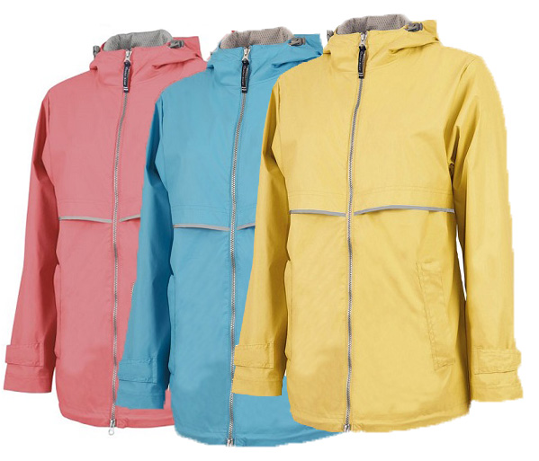 New Englander Raincoat Blue Coral Yellow