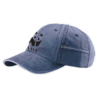 WWF Pigment Dyed Zip Pocket Baseball Hat