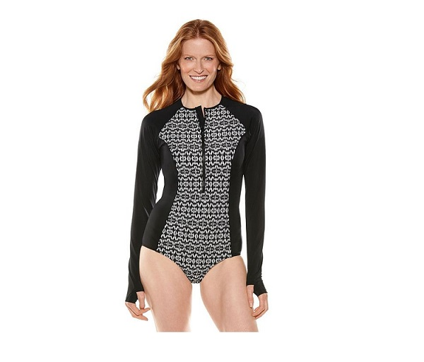 W's Long Sleeve Swimsuit UPF 50+ by Coolibar